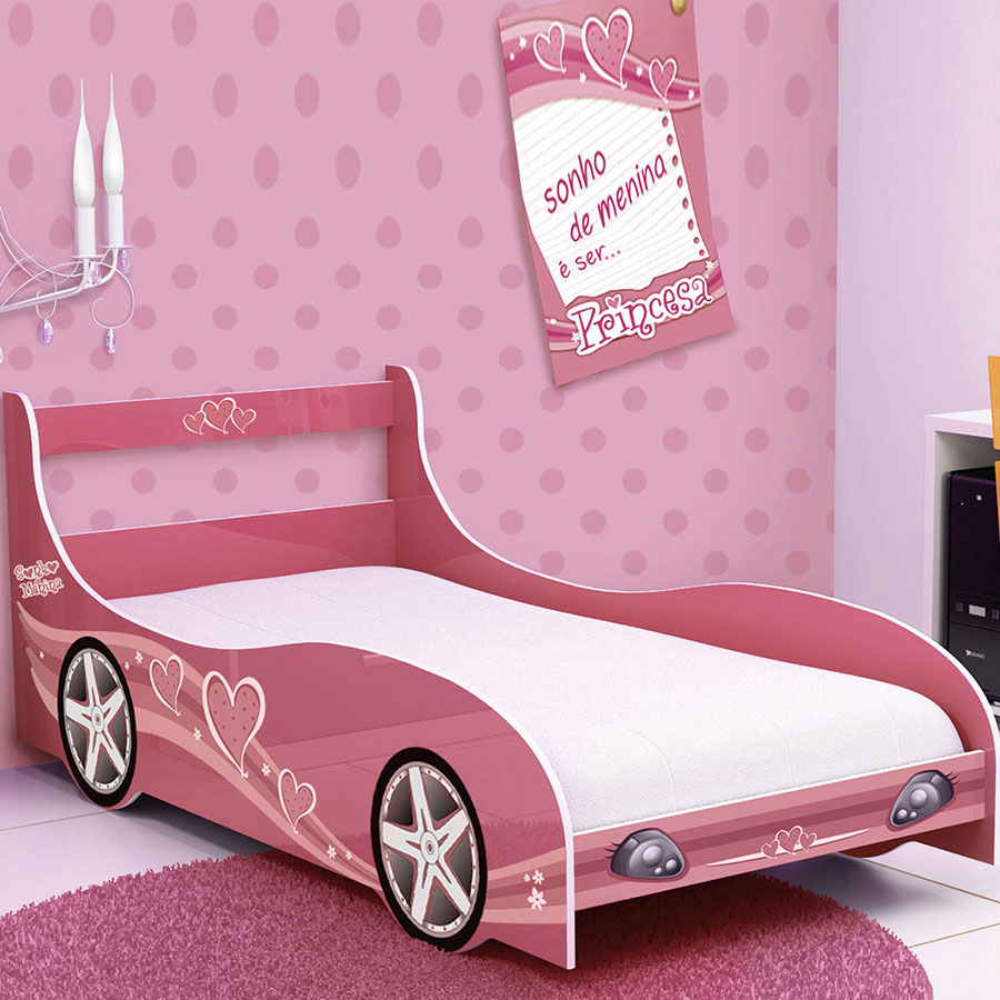 Cama solt princesa gel pink abba import export - Cama princesa nina ...