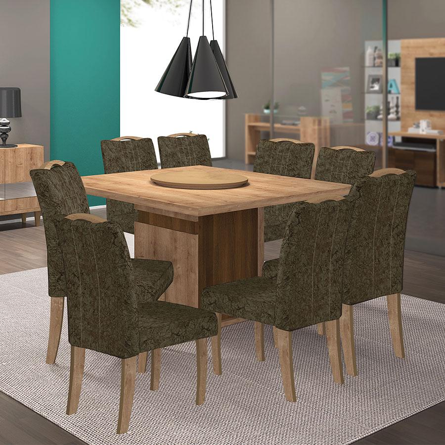 Conjunto mesa napoli con 8 sillas confort dj york tex marr n abba import export - Confort y muebles ...