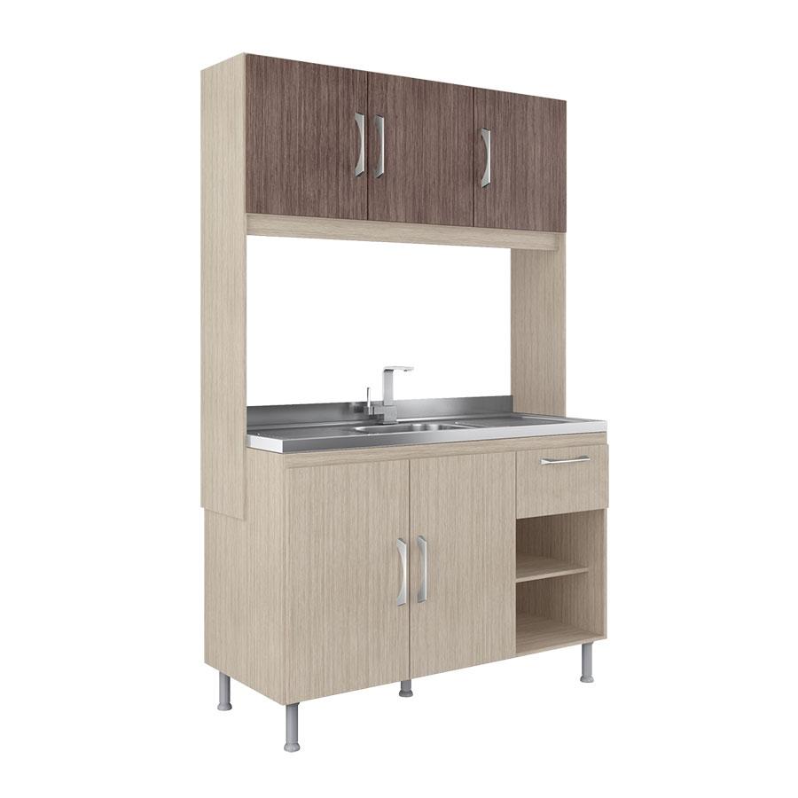 Muebles De Cocina En Kit | Kit Cocina Laura 5 Puertas Visao Aspen Ebano Tex Abba Import Export