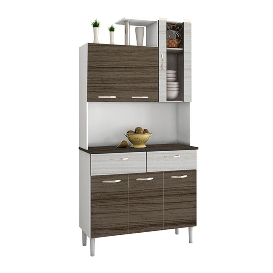 Kit cocina olimpo 6 puertas kits paran dubai rovere for Easy ofertas muebles de cocina