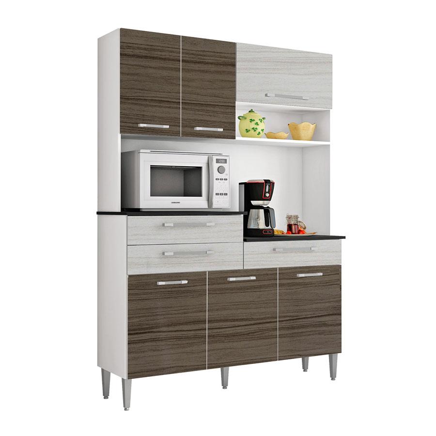 Kit cocina orion 6 puertas kits paran dubai rovere abba for Muebles de cocina kit completos