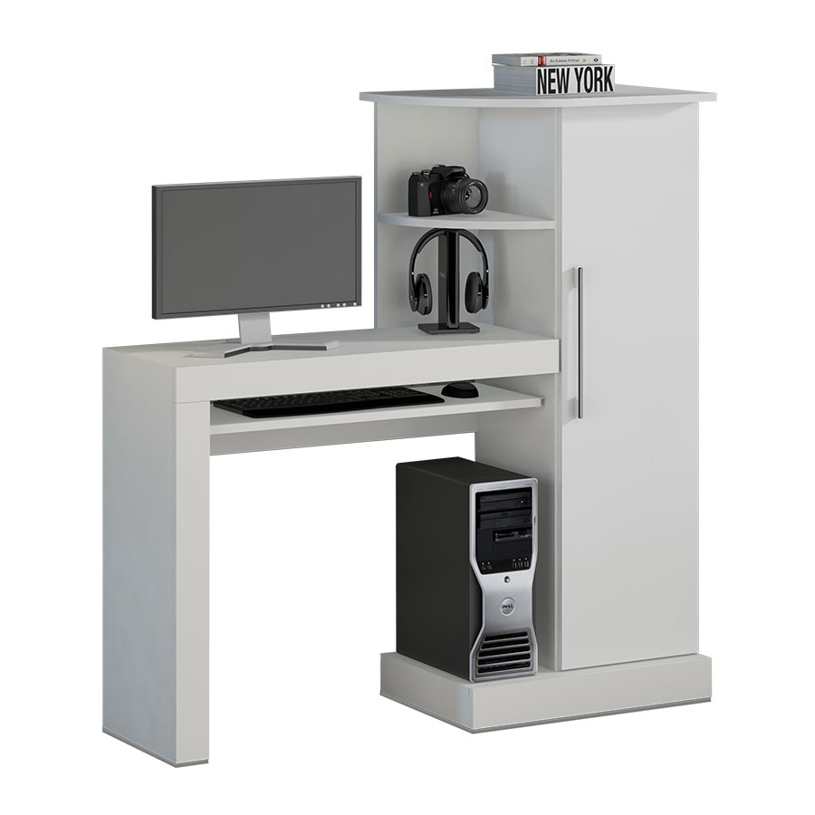 Mesa computadora safira not vel blanco abba import export for Muebles para computadora office depot