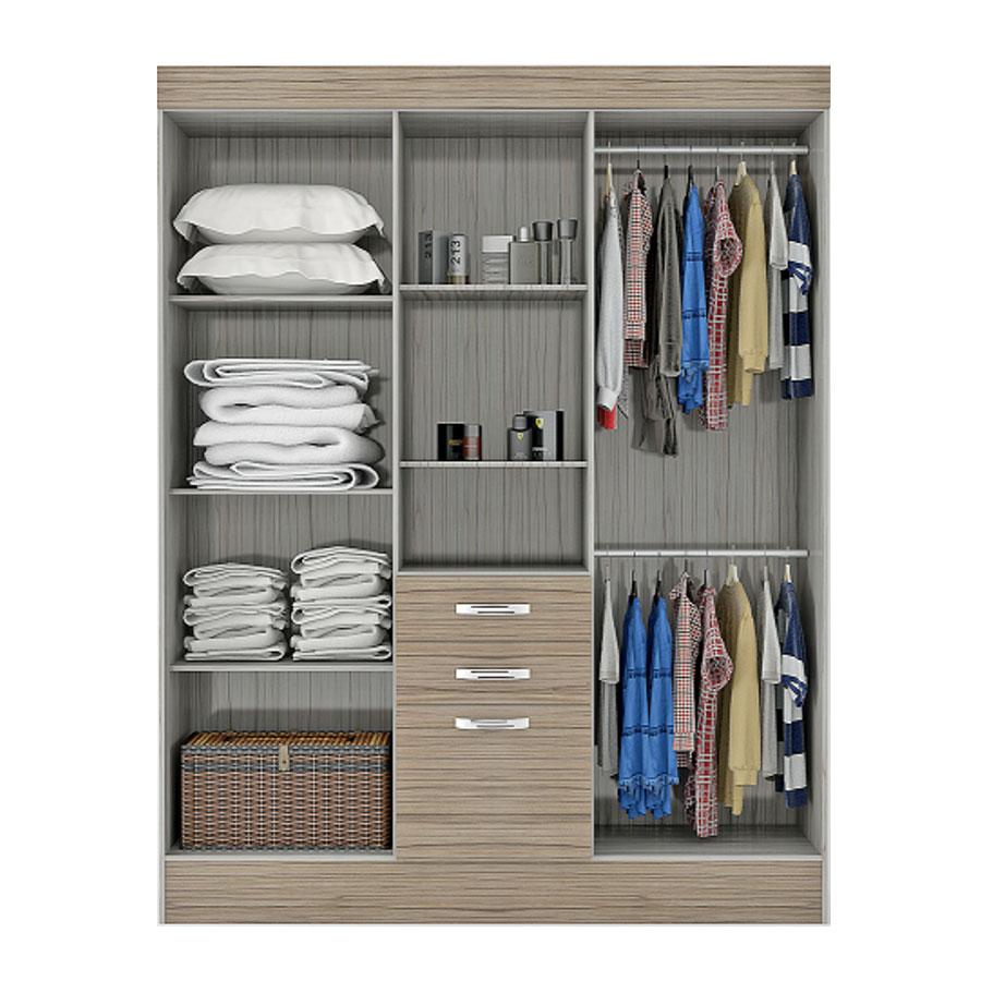 Ropero 5 puertas concepcion con espejo barcellona cafe tex for Muebles de oficina concepcion