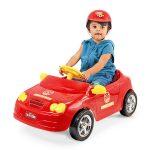 auto-pedal-mercedes-bombero-4127-xplast-rojo-abba