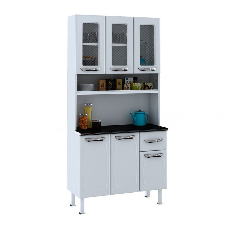 Kit cocina leblon colormaq blanco abba import export - Mueble cocina kit ...