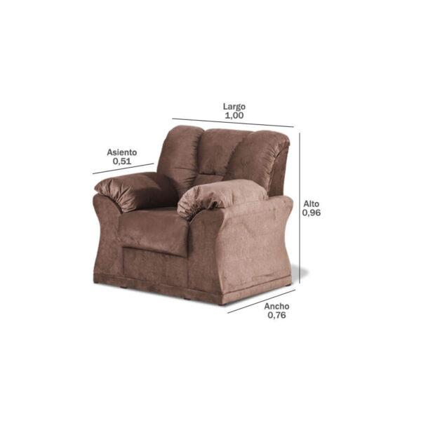 Sofa-Laguna-1-lugar-medidas-Abba-Muebles