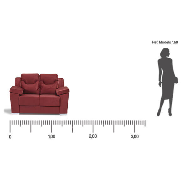Sofa-Paraguay-2-lugares-medida-frontal-Abba-Muebles
