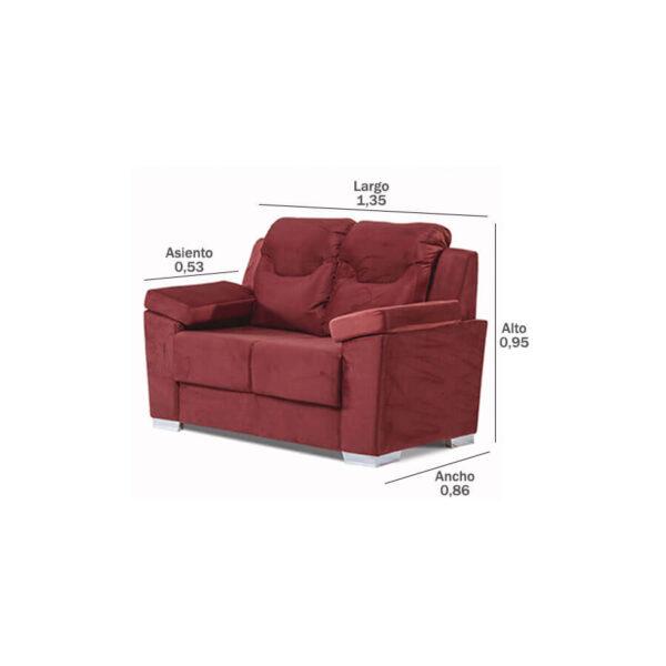 Sofa-Paraguay-2-lugares-medidas-Abba-Muebles