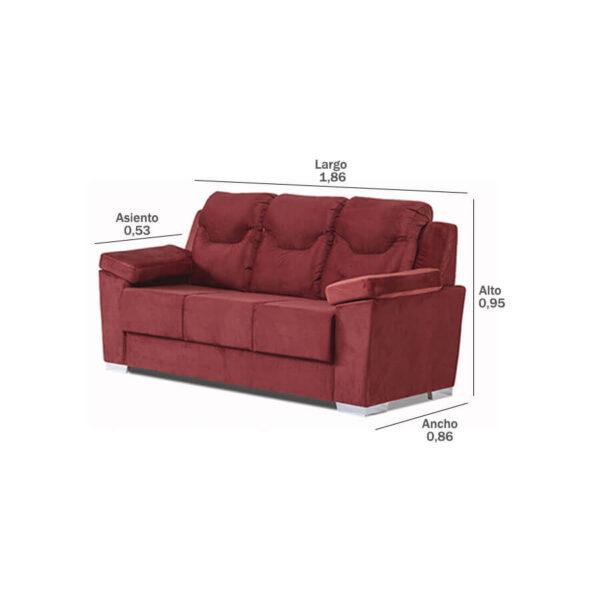 Sofa-Paraguay-3-lugares-medidas-Abba-Muebles