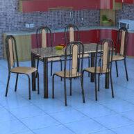 conjunto-mesa-granada-con-6-sillas-fabone-negro-plateado-natura-beige-abba-muebles