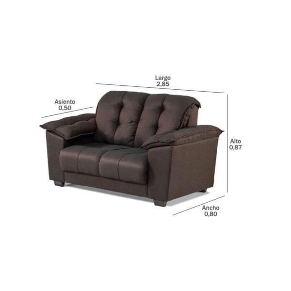 Sofa-Quebec-2-lugares-medidas-Abba-Muebles