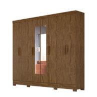 ropero 8 puertas diplomata moval castanho wood abba muebles