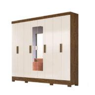 ropero 8 puertas diplomata moval castanho wood vainilla abba muebles
