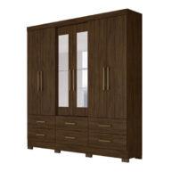 Ropero 6 puertas nevada wengue abba muebles