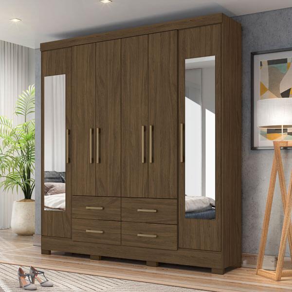 Ropero-6-puertas-valencia-wengue-ambientado-abba-muebles