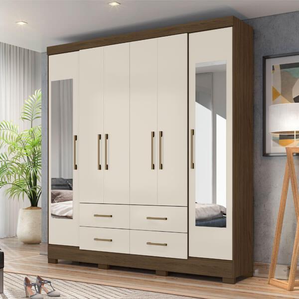 Ropero-6-puertas-valencia-wengue-vainilla-ambientado-abba-muebles