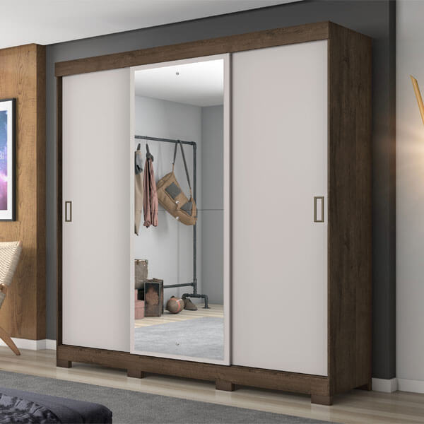 ropero 3 puertas NT5020 notavel cafe off white ambientado abba muebles