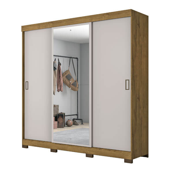 ropero 3 puertas NT5020 notavel rustico off white abba muebles