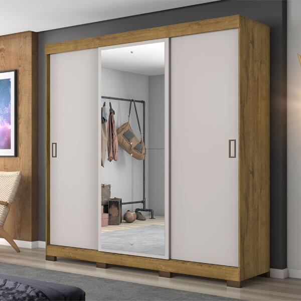 ropero 3 puertas nt5020 notavel rustico offwhite ambientado abba muebles