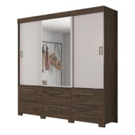 ropero 3 puertas nt5030 notavel cafe off white abba muebles