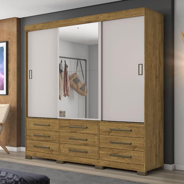 ropero 3 puertas nt5030 notavel rustico off white ambientado abba muebles