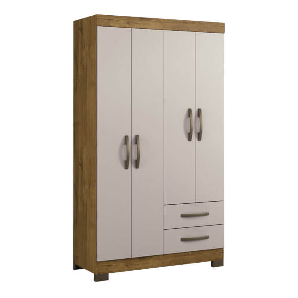ropero 4 puertas NT5005 notavel rustico off white abba muebles