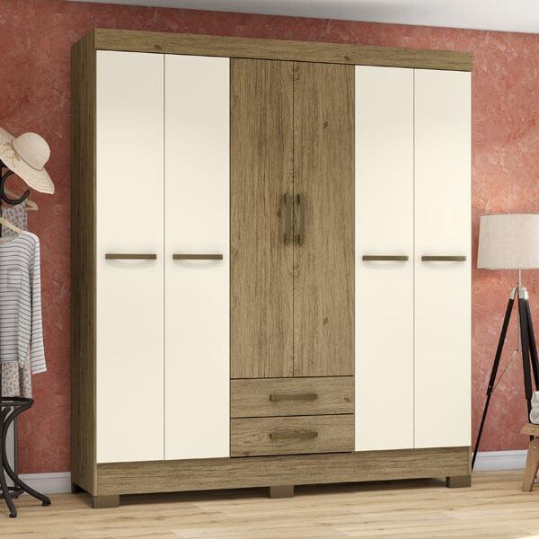 ropero-6-puertas-BE15-Briz-rustico-off-white-ambientado-abba-muebles