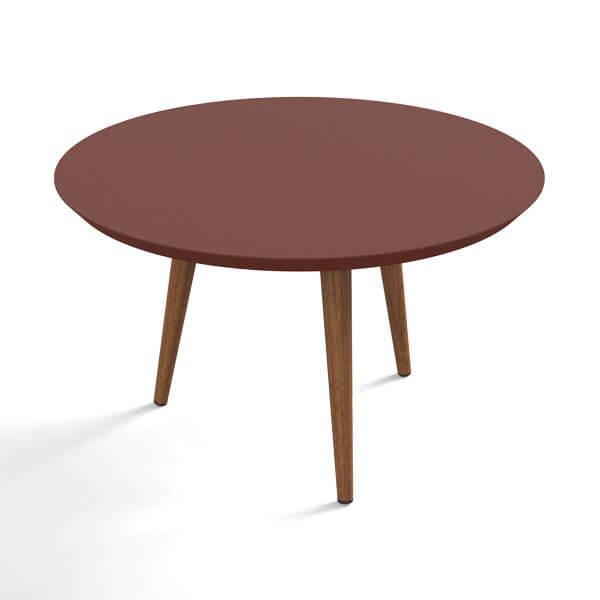 Conjunto mesa centro luna patrimar terracota 2 abba muebles