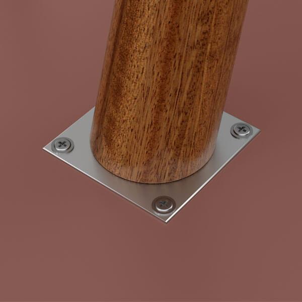 Conjunto mesa centro luna patrimar terracota detalle 1 abba muebles
