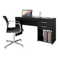Mesa office 51015 notavel negro abba muebles