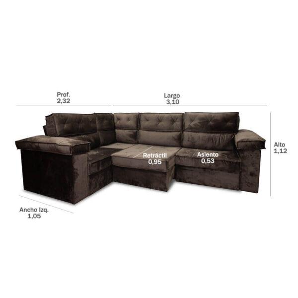 sofa polinesia Abba 490 (medidas)
